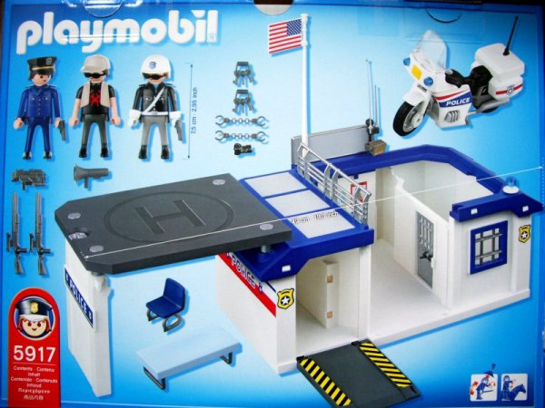 commissariat de police playmobil. Black Bedroom Furniture Sets. Home Design Ideas