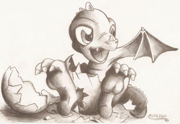 B b dragon blog dessins - Dessin de bebe dragon ...